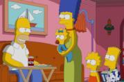 La famiglia Simpson in una scena della longeva serie