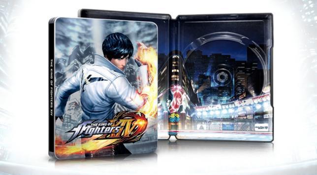 La confezione steelbook di KOF 14 con protagonista Kyo