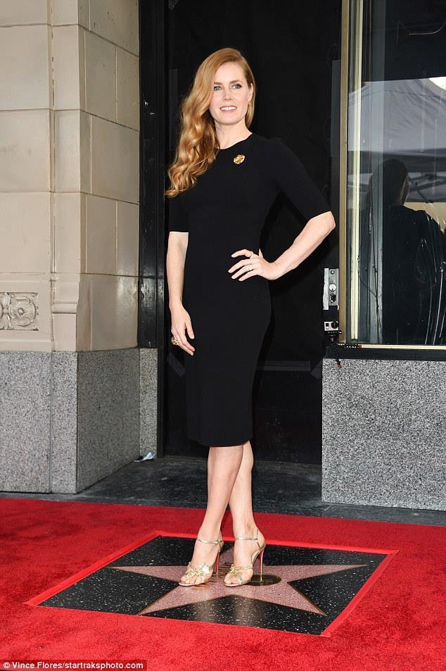 Amy Adams sulla stella della Walk of Fame