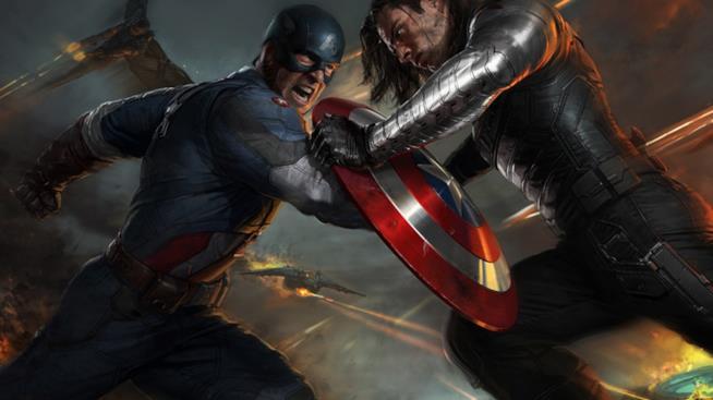 Scontro tra Captain America e il Soldato d'Inverno