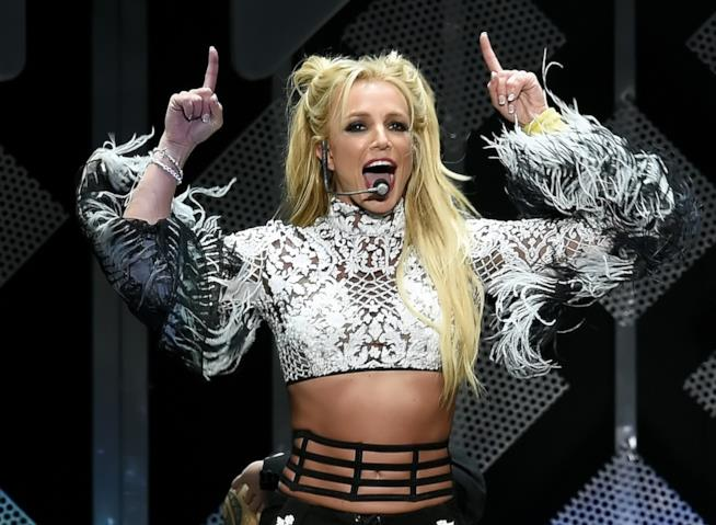 Britney Spears durante uno dei suoi ultimi live