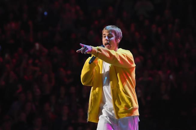 Justin Bieber sul palco
