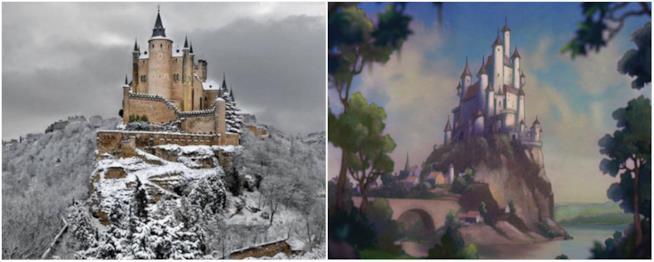 A Segovia c'è il suggestivo castello di Biancaneve