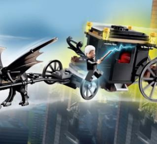 Il nuovo set LEGO Fuga Grindelwald con le Minifigure di Gellert Grindelwald e Seraphina Picquery