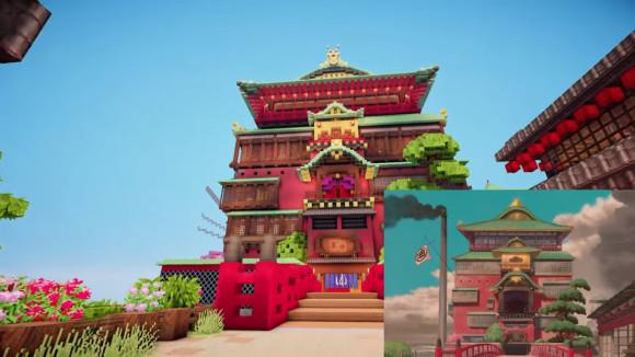 La città incantata ricostruita in Minecraft