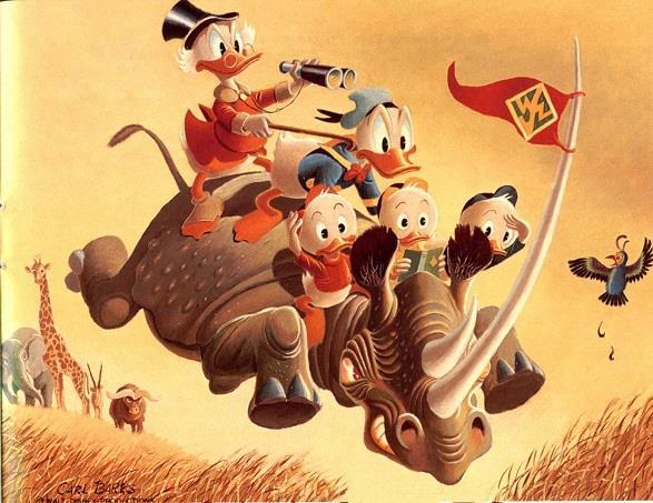 Un quadro a olio di Carl Barks