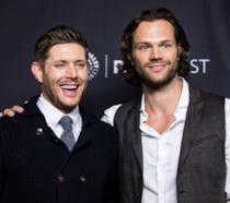 Jensen Ackles e Jared Padalecki ad un evento per Supernatural