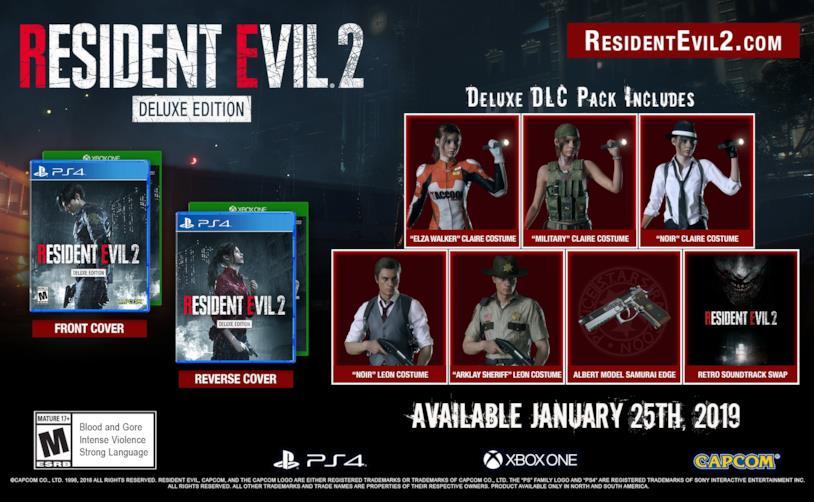 Capcom ha annunciato la Deluxe Edition di Resident Evil 2 Remake