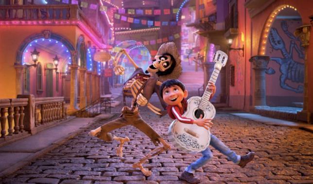 Una scena del film Coco