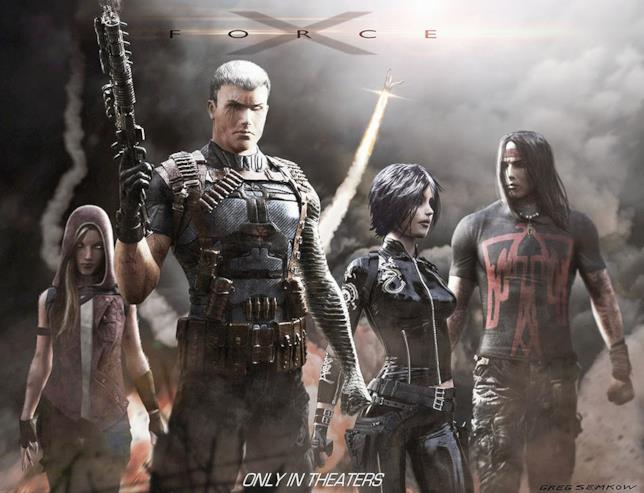 X-Force e Cable: una concept art di Gregory Semkow