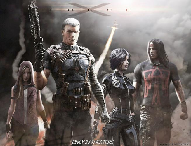 X-Force e Cable: una concept art di Gregory Semkow