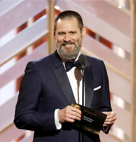 Jim Carrey ai Golden Globes