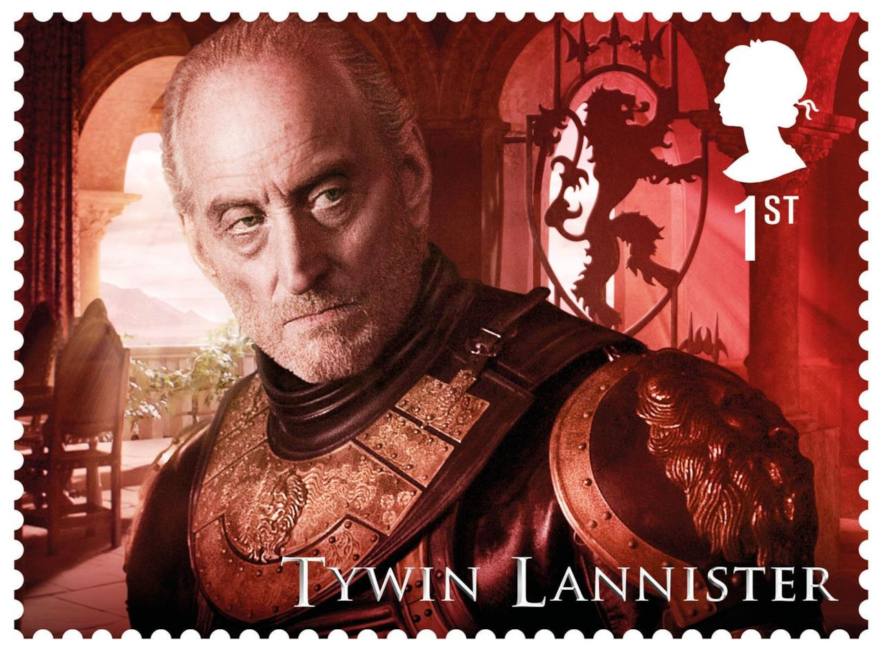 Tywin Lannister di Game of Thrones sul suo francobollo