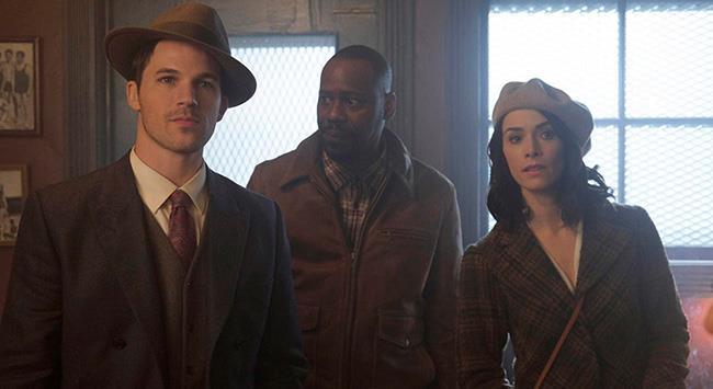 Wyatt, Rufus e Lucy nella 1x01 di Timeless