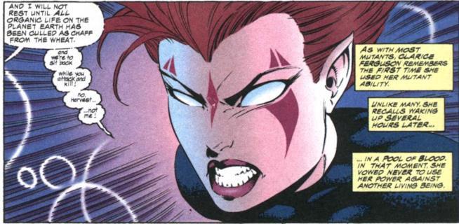 Blink in una delle tavole degli X-Men