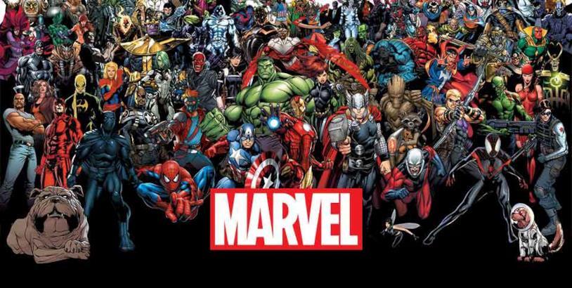 Immagine di gruppo di alcuni personaggi Marvel