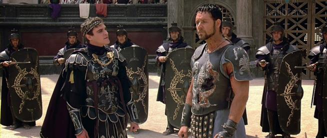 Russell Crowe e Joaquin Phoenix