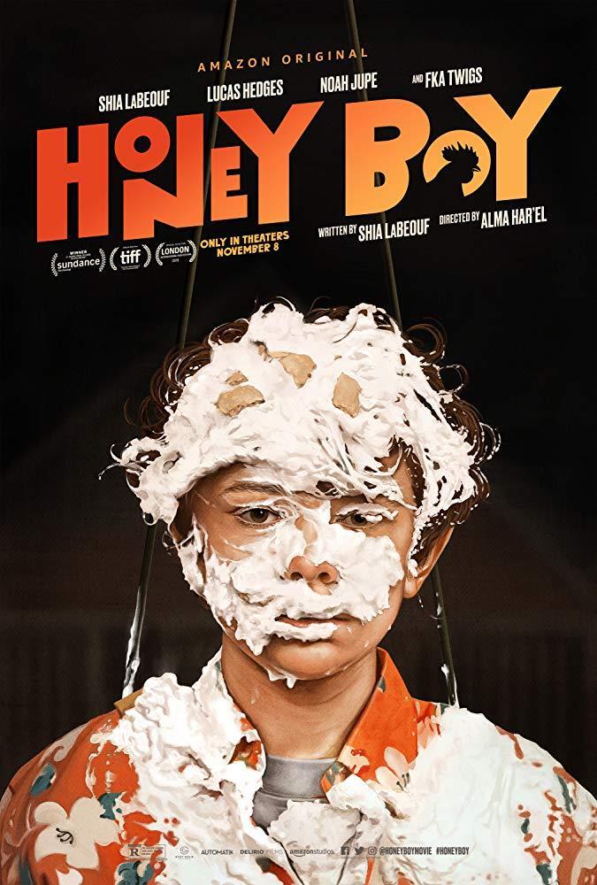 Noah Jupe nel poster ufficiale di Honey Boy