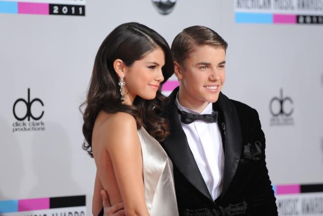 Justin Bieber e Selena Gomez quando erano una coppia
