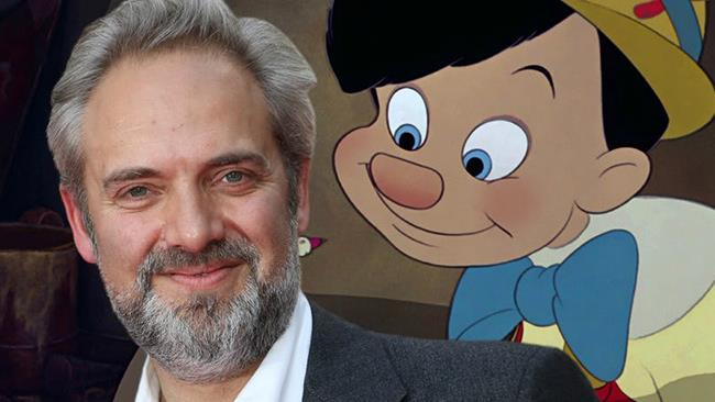 Sam Mendes insieme a Pinocchio