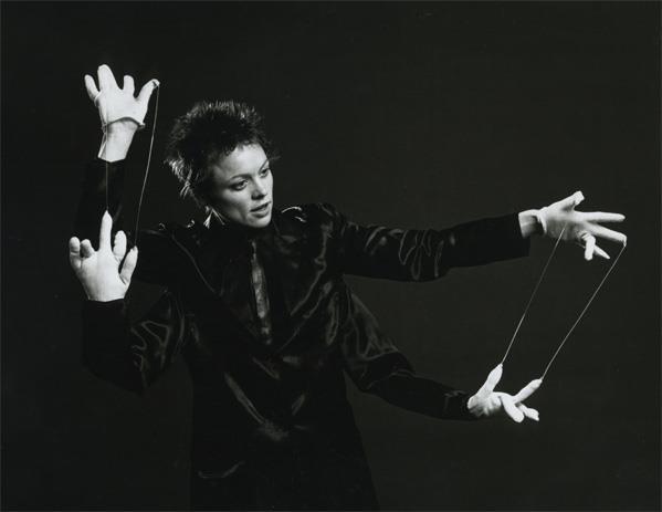 La performer Laurie Anderson