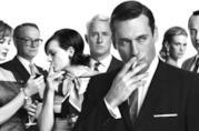 Il cast di Mad Men in bianco e nero
