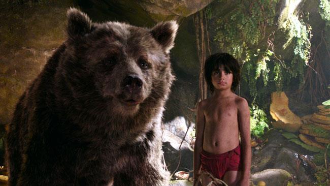 Baloo e Mowgli nel Libro della Giungla di Disney