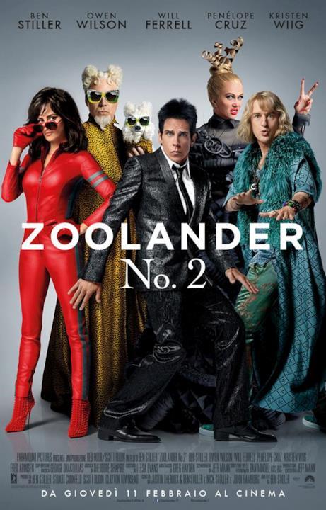 Il cast al completo nella locandina italiana di Zoolander 2