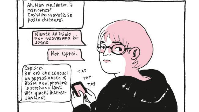 La protagonista di Non so chi sei della fumettista Cristina Portolano