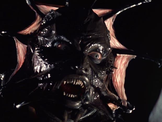 Il volto demoniaco del Creeper, creatura affamata di carne umana