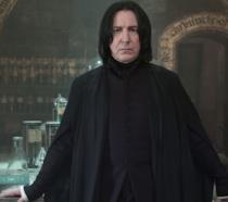 Alan Rickman in un'immagine promozionale dalla saga di Harry Potter