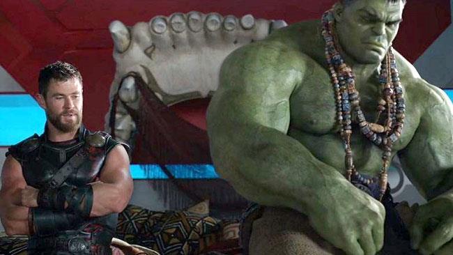 Thor a colloquio con Hulk