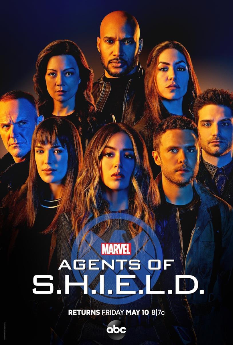 Il poster ufficiale della stagione 6 di Agents of S.H.I.E.L.D. con i protagonisti