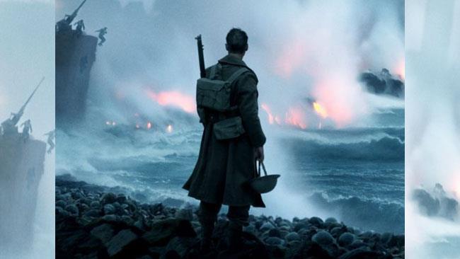 Una scena di Dunkirk, diretto da Christopher Nolan