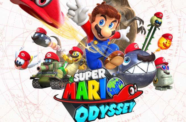 Il logo ufficiale di Super Mario Odyssey per Nintendo Switch