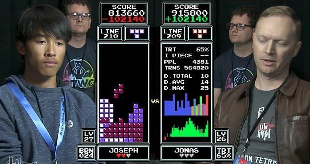 La finale di Tetris tra Joseph Saelee e Jonas Neubauer
