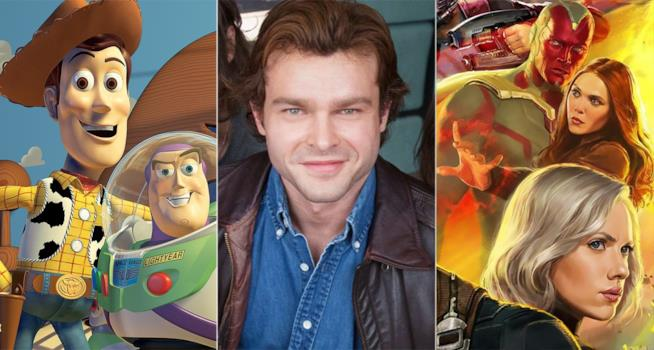 I protagonisti di Toy Story 4, Han Solo, Avengers: Infinity War
