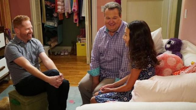 Una scena della serie Modern Family
