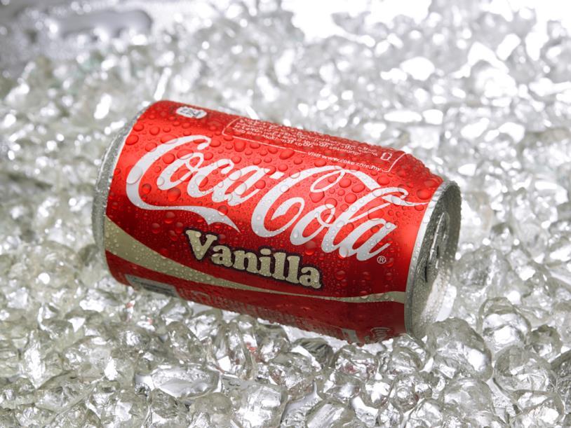 Lattina di Coca-Cola alla vaniglia