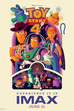 I protagonisti di Toy Story 4 nel poster per i cinema IMAX