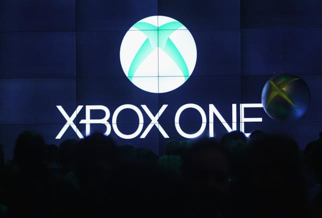 Il logo di Xbox One in un evento stampa