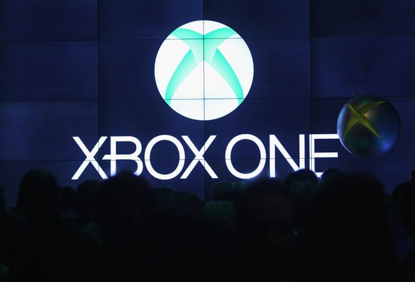 Il logo di Xbox One in un evento stampa
