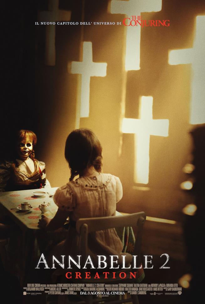 Il poster ufficiale di Annabelle 2: Creation