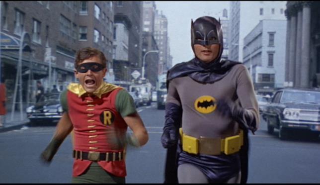 Adam West e Burt Ward nei rispettivi ruoli Batman e Robin