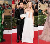 Nicole Kidman, Simon Helberg con la moglie Jocelyn Towne e Taraji P. Henson ai SAG Awards 2017