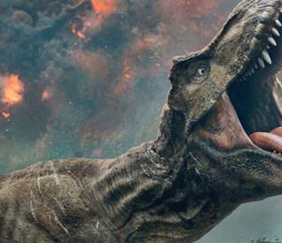 Il T-Rex in un'immagine ufficiale di Jurassic Park: Il Regno Distrutto