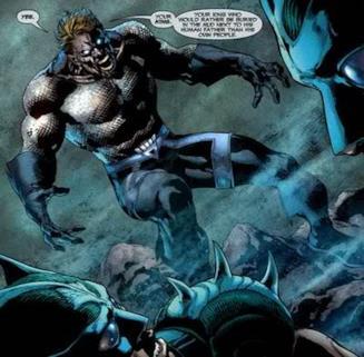 Pagina disegnata in cui Aquaman è una Lanterna Nera