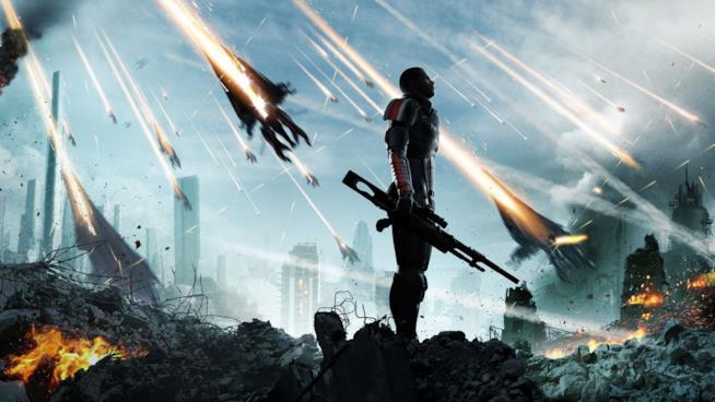 Il Comandante Shepard in un artwork ufficiale di Mass Effect 3