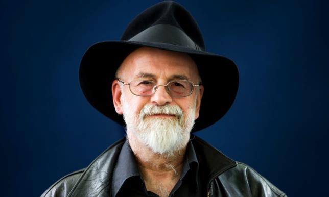 Un primo piano di Terry Pratchett