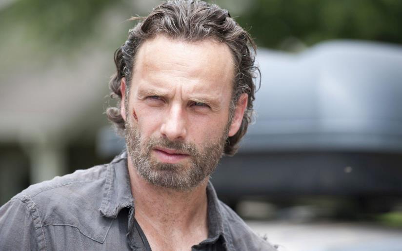 Andrew Lincoln nei panni di Rick Grimes in The Walking Dead
